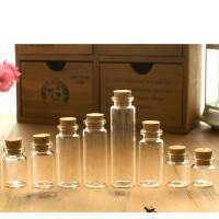 Стеклянные декоративные бутылочки с пробкой 2 см