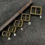 Пряжка 10-25 мм латунная с шипом арт. 034
