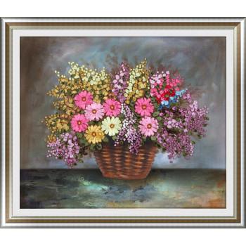 Набор для вышивки лентами Букет полевых цветов в корзинке