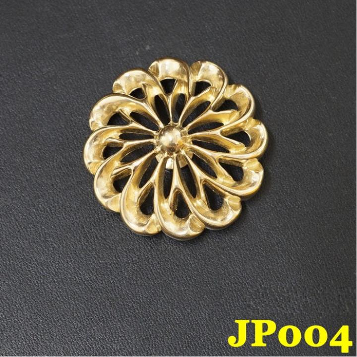 Кончо для кожаных изделий Хризантема большая, Латунь JP-004