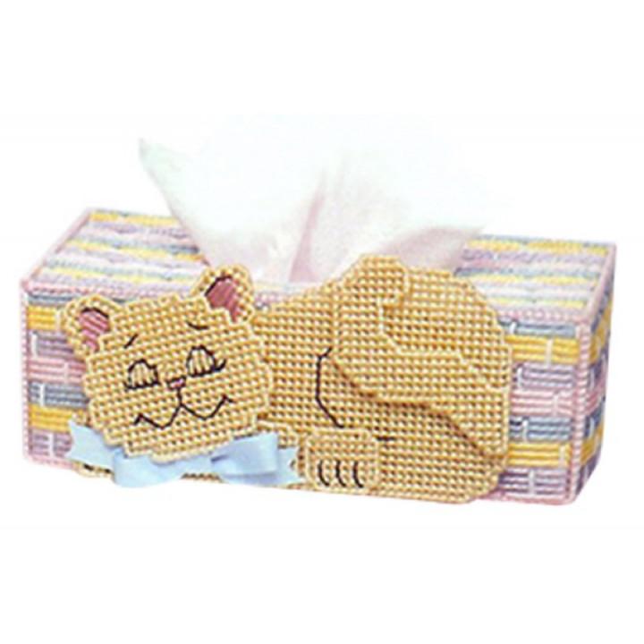 Набор для объемной вышивки Салфетница с котиком