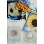 Набор для объемной вышивки Сумочка желтая с сердечками