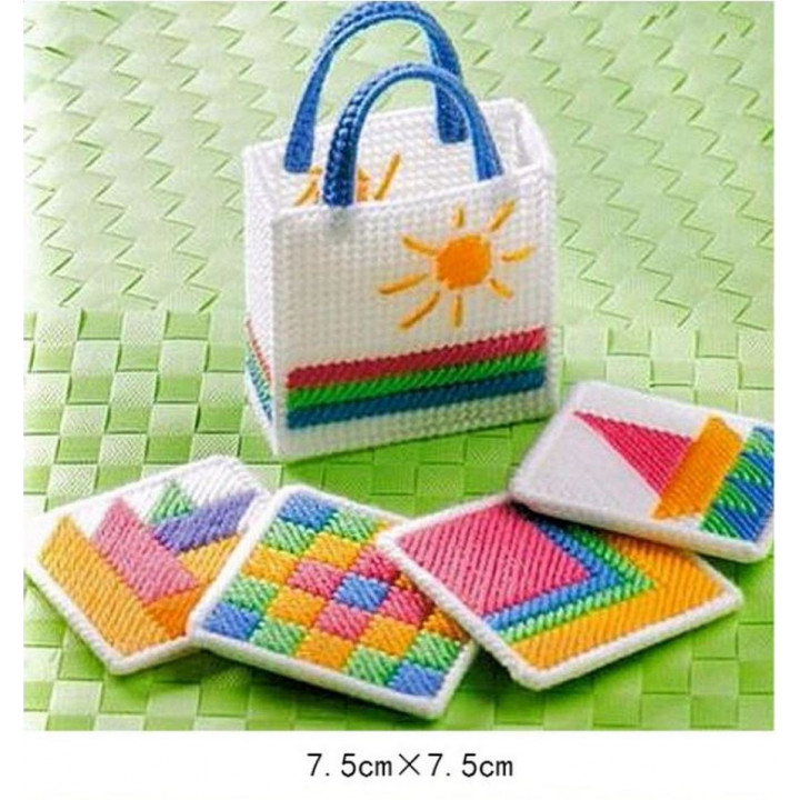 Набор для объемной вышивки Подставки в сумочке