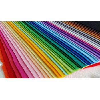 Фетр жесткий 1 мм 15х15 см набор 40 цветов