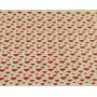 Фетр жесткий 1 мм 30х30 см принт Красные сердечки