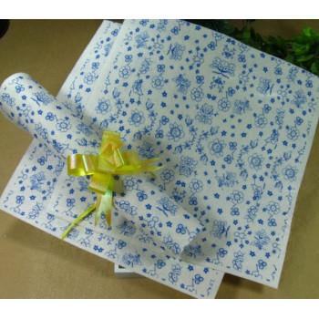 Фетр жесткий 1 мм 30х30 см принт Синие цветочки