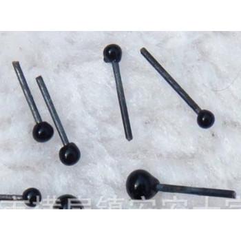Глазки-гвоздики черные круглые 2-4 мм 10 шт.