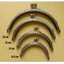 Фермуар пришивной бронзовый полукруглый 5,5-15 см