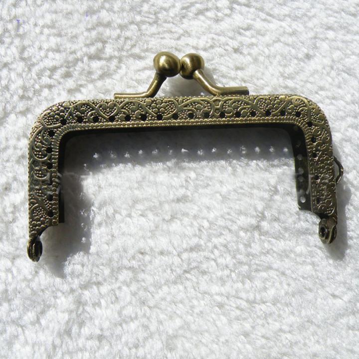Фермуар пришивной бронзовый прямоугольный 5,5-15 см