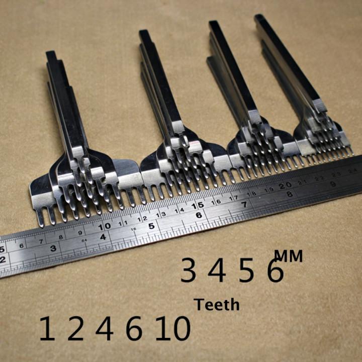 Пробойники строчные ромбовидные 5 мм 1-10 зубьев