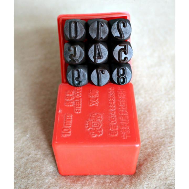 Штампы для тиснения по коже Цифры 2,5-10 мм