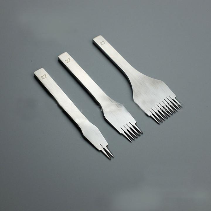Пробойники строчные косой зуб  полированная сталь шаг 3,00 мм