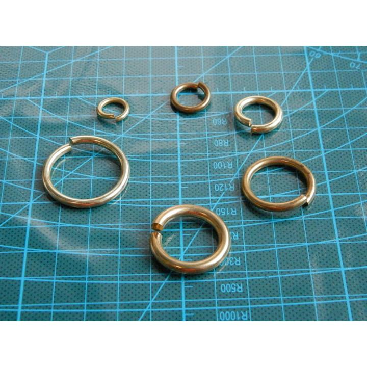 Колечки соединительные 5-10 мм Латунь 10 шт