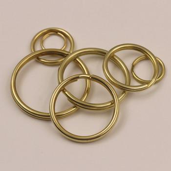 Кольцо 10-35 мм латунь Круглое