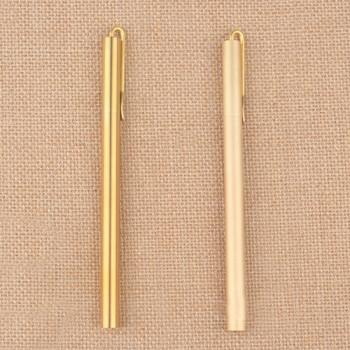 Корпус для ручки металлический с зажимом Латунь