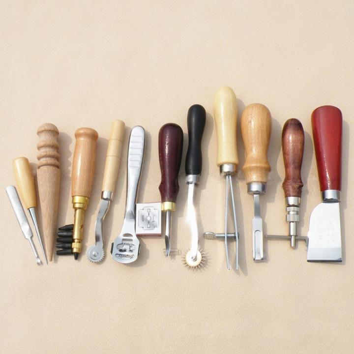Набор инструментов для работы с кожей 12 предметов