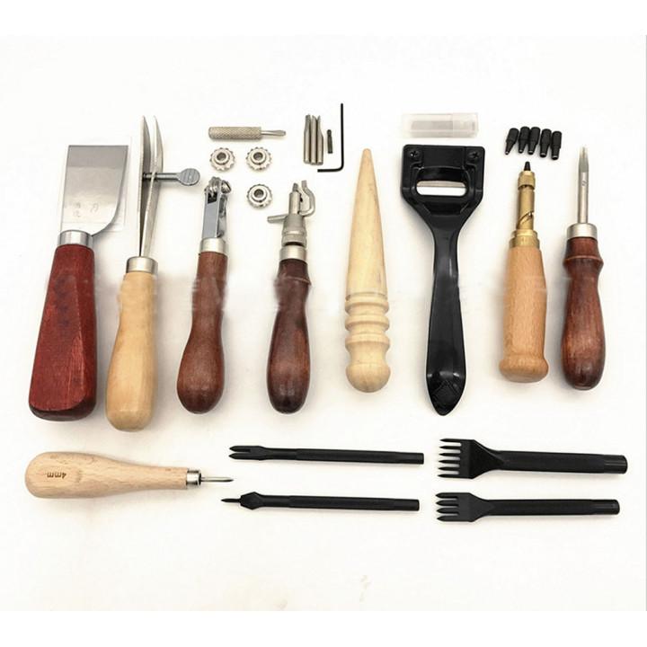 Набор инструментов для работы с кожей 13 предметов