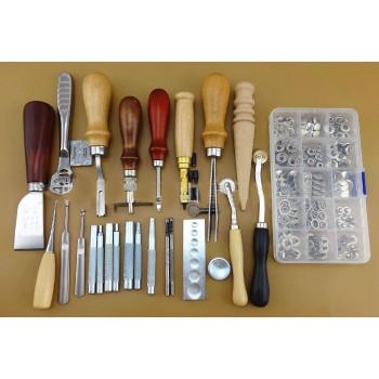 Набор инструментов для работы с кожей 25 предметов