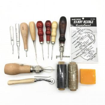 Набор инструментов для работы с кожей 14 предметов