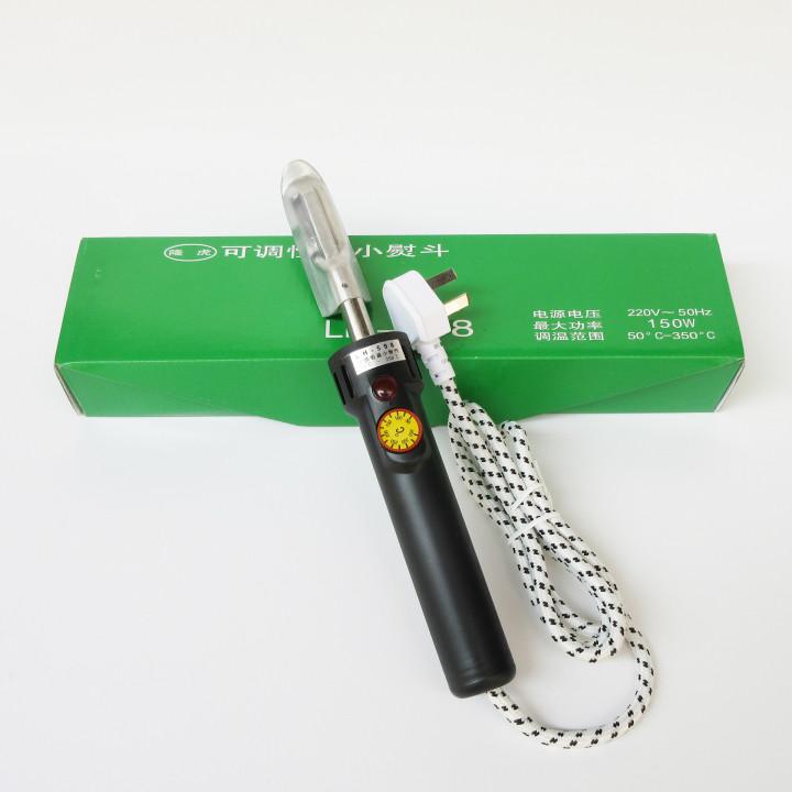 Электроутюжок с терморегулятором для кожевенных работ