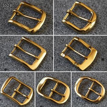 Пряжка для ремня 35 мм латунная Золото