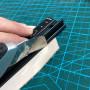 Линейка металлическая с протектором и ручкой 20-45 см