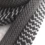 Лента ременная стропа 32 мм Плетеная Серая/Черно-белая
