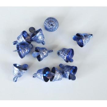 Колокольчики металлические синие 10 шт.
