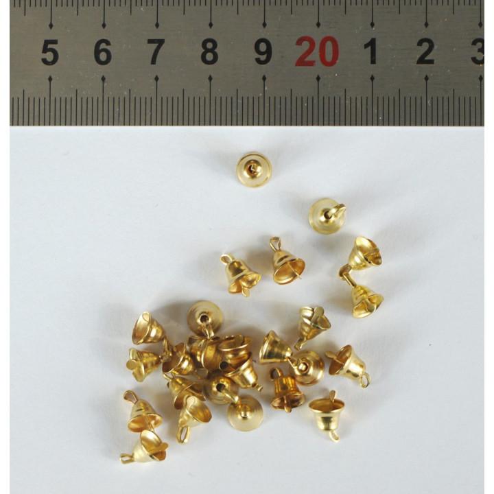 Колокольчики мини золотые 10 шт.