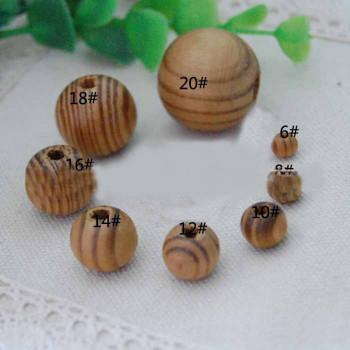 Бусины деревянные полосатые 6-30 мм