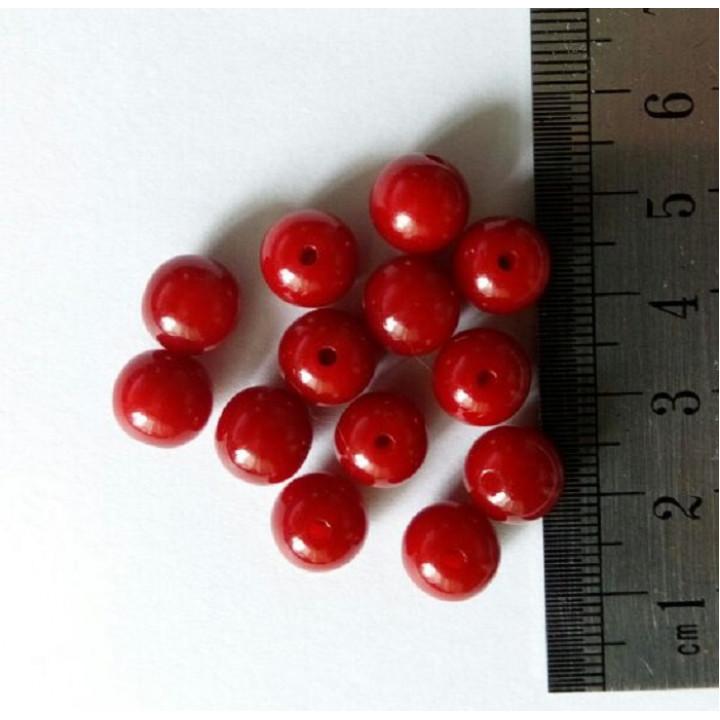 Бусины красные 8 мм