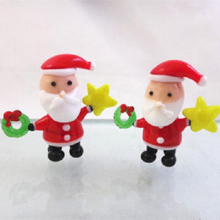 Дед Мороз новогодний сувенир стекло