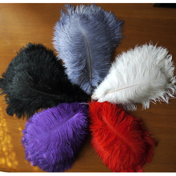 Перо страуса 25-30 см