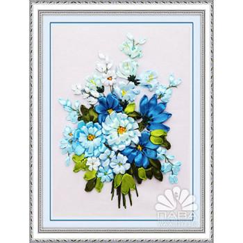 Набор для вышивки лентами Голубой букетик