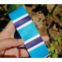 Лента ременная 38 мм Цветная полоска пэ