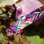 Лента ременная 38 мм Цветной орнамент пэ