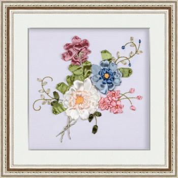 Набор для вышивки лентами Летние цветы