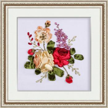 Набор для вышивки лентами Три розы