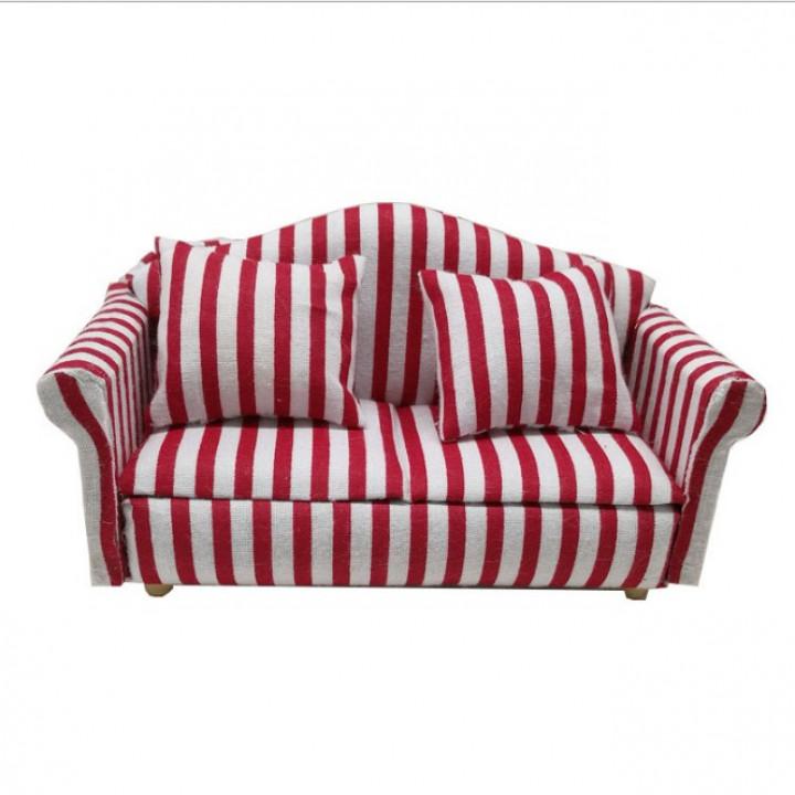 Мягкая мебель для кукол 2 кресла/диван Обивка полоска