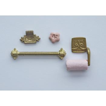 Набор принадлежностей для кукольной ванной комнаты