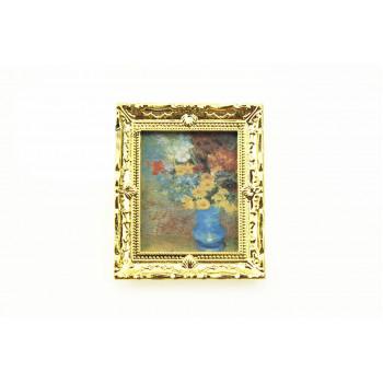 Картина в рамке Букет для кукольного домика масштаб 1:12, 1:6