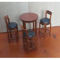 Столик с 3 стульями для кукол Миниатюра 1:12