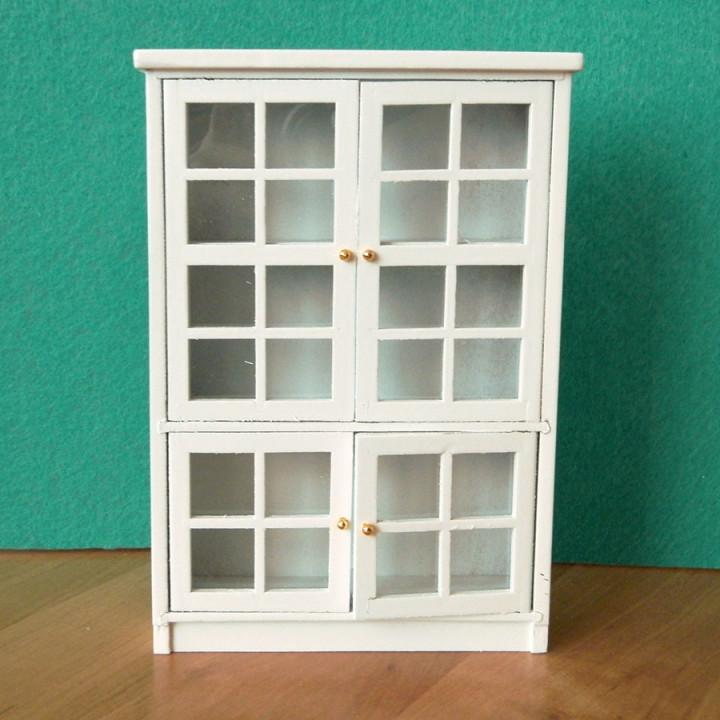 Шкаф для кукол посудный большой Белый