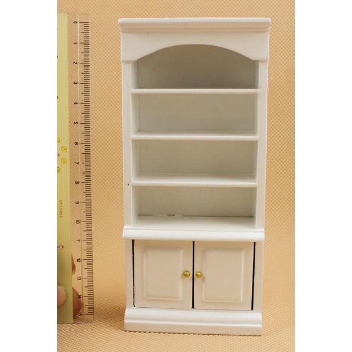 Шкаф для кукол с полками Белый