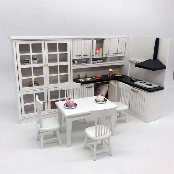 Кухня для кукол модульная Масштаб 1:12