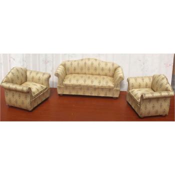 Мягкая мебель для кукол Обивка в золотистой гамме