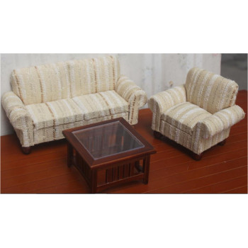 Набор мебели для кукол Гостиная 3 предмета Бежевый