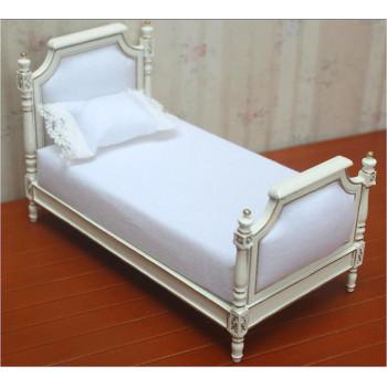 Миниатюра для кукол Кровать белая