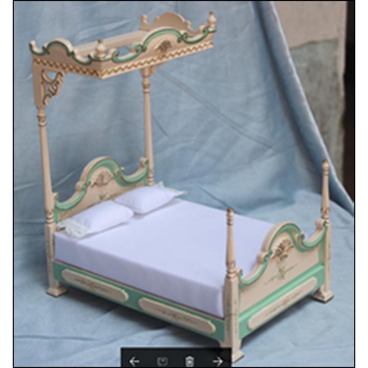 Миниатюра для кукол Кровать двухместная Премиум