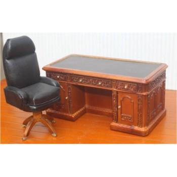 Миниатюра для кукол Стол офисный с креслом